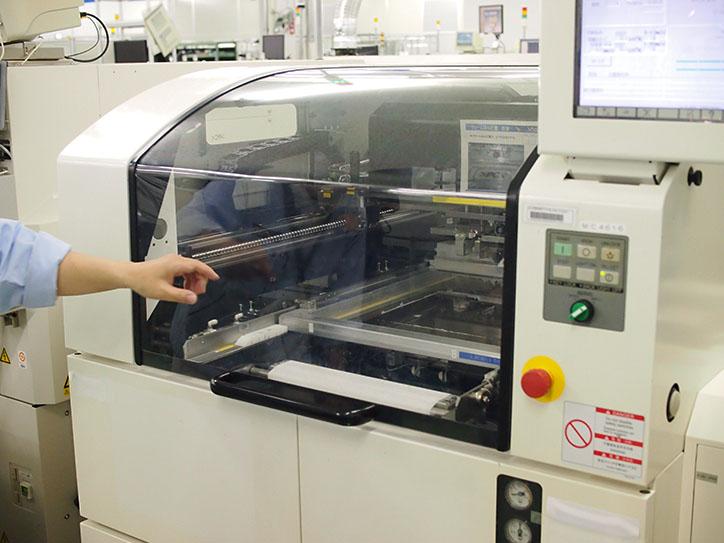 クリームハンダ印刷機