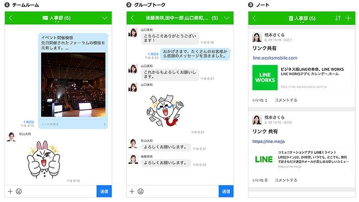 日本で圧倒的に利用されているLINEのビジネス版「LINE WORKS」
